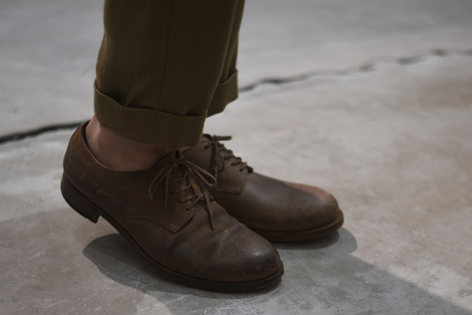 forme -Guidi Leather Blucher Shoes-
