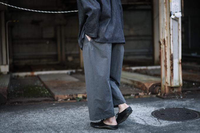 MAINU -Cotton Side Dirts Wide Pants-