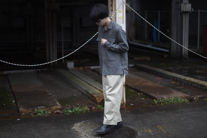 Riprap Linen Open Collar Shirts × un/unbient Wide Pull Pants