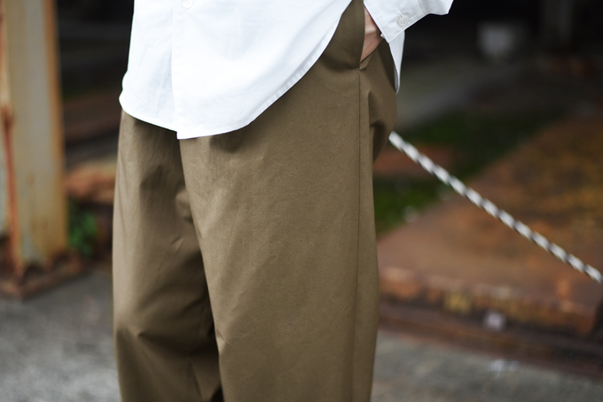 AURALEE -High Count Cloth Wide Pants-