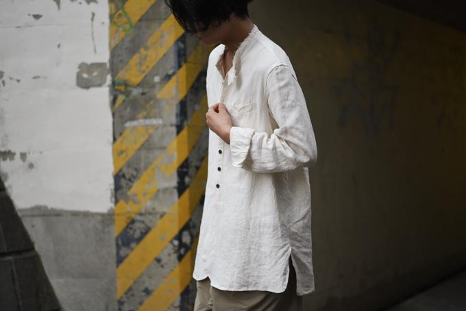 KLASICA -Cut Off Stand Collar Shirts-