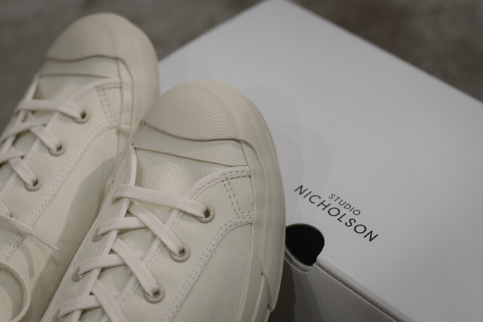 STUDIO NICHOLSON -Merino Canvas Shoes-