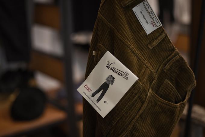 WESTOVERALLS -Corduroy Wide Pants & Logo Cap-