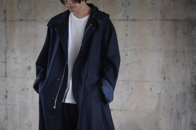 AURALEE -Light Melton Long Hooded Coat-