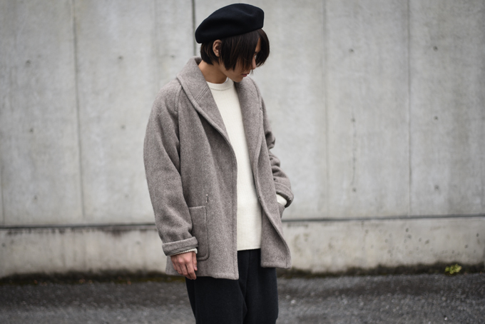 COMOLI -Yak Shawl Collar Coat & British Wool Knit Jacket-