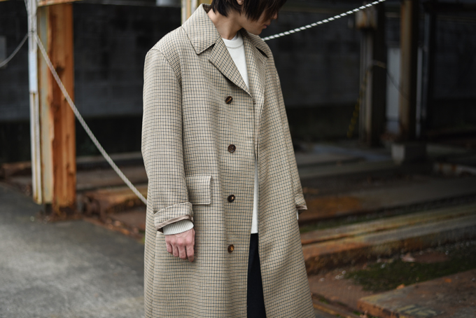 AURALEE -Check Long Coat & Beaver Melton Coat-