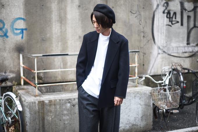 MAINU -Wool Unlined Cut Off Jacket-