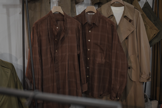 AURALEE -Big Trench Coat & Check Shirts-